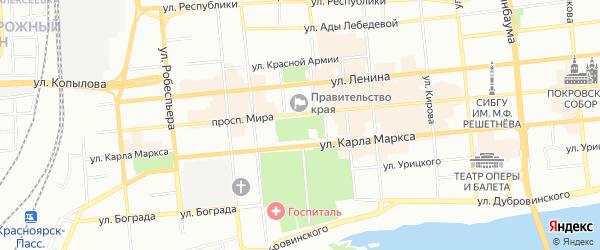 СНТ Хлебная инспекция на карте Красноярска с номерами домов