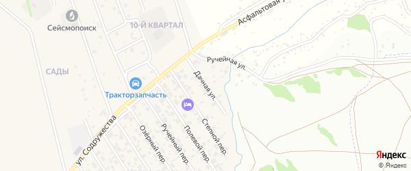 Дачная улица на карте микрорайона Чистые прудов Красноярского края с номерами домов