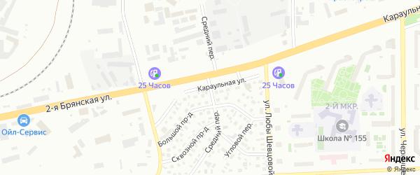Средняя улица на карте поселка Солонцов Красноярского края с номерами домов