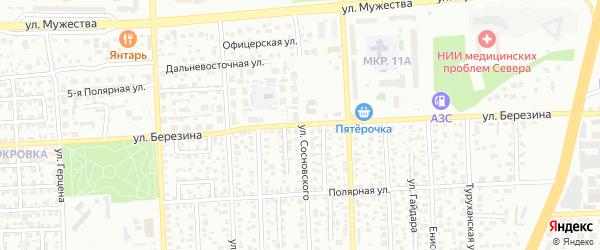 Улица Березина на карте Красноярска с номерами домов