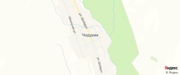 Карта села Чодураа в Тыве с улицами и номерами домов