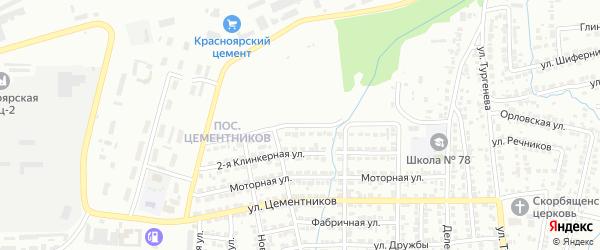 1-я Клинкерная улица на карте Красноярска с номерами домов