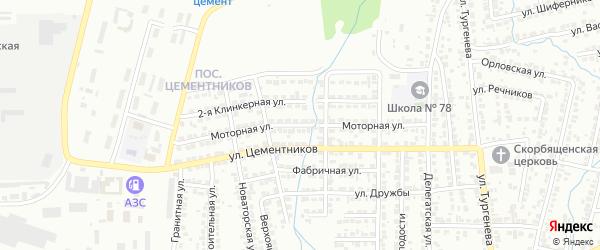 Моторная улица на карте Красноярска с номерами домов