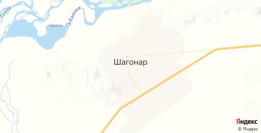 Карта Шагонара с улицами и домами подробная. Показать со спутника номера домов онлайн