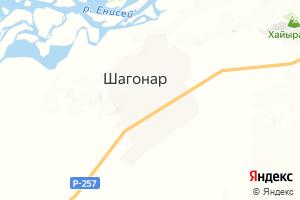 Карта г. Шагонар Республика Тыва