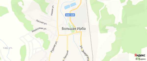 Квартал N27 на карте поселка Большей Ирбы Красноярского края с номерами домов