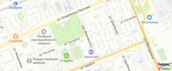 Улица Гастелло на карте Красноярска с номерами домов