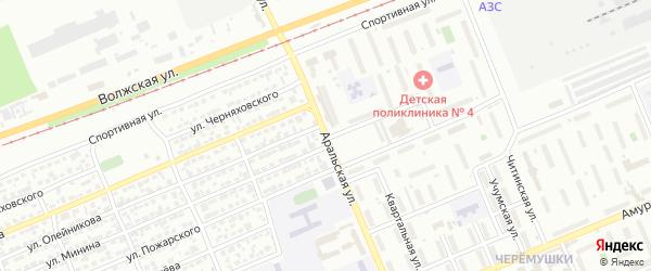 Аральская улица на карте Красноярска с номерами домов