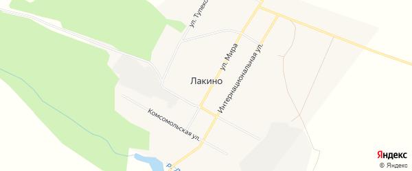 Карта деревни Лакино в Красноярском крае с улицами и номерами домов