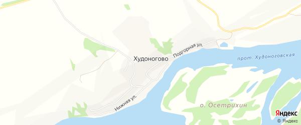 Карта деревни Худоногово в Красноярском крае с улицами и номерами домов