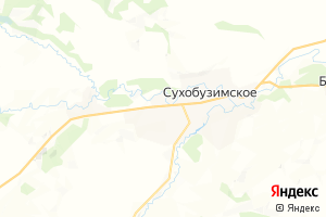 Карта с. Сухобузимское Красноярский край