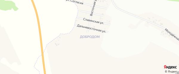 Амурская улица на карте микрорайона Добродом Красноярского края с номерами домов