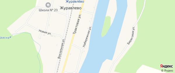 Береговая улица на карте деревни Верхней Мульги Красноярского края с номерами домов