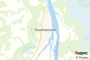 Карта с. Казачинское Красноярский край