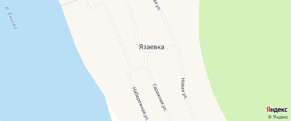 Гаражная улица на карте поселка Язаевка Красноярского края с номерами домов