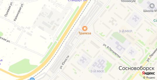 Территория Юности 14 ГСЭК Ключ в Сосновоборске с номерами домов на карте. Спутник и схема онлайн
