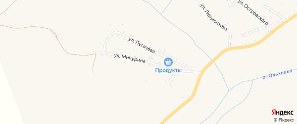Улица Мичурина на карте Артемовска с номерами домов