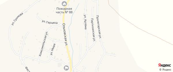 Улица Артема на карте Артемовска с номерами домов