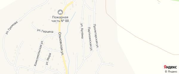 Партизанская улица на карте Артемовска с номерами домов