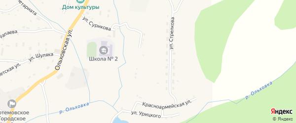 Улица Пархоменко на карте Артемовска с номерами домов