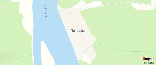 Карта деревни Покровки в Красноярском крае с улицами и номерами домов
