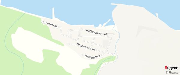 Территория Гаражный массив сектор 1 на карте поселка Новоангарска Красноярского края с номерами домов