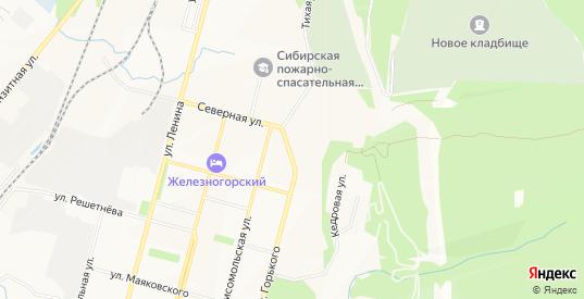 Карта территории гк N3 в Железногорске с улицами, домами и почтовыми отделениями со спутника онлайн