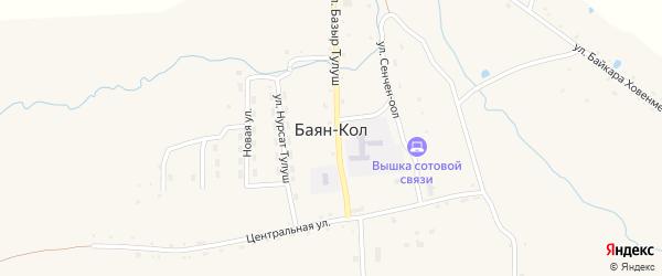 Переулок Кара-Булун на карте села Баяна-Кола Тывы с номерами домов