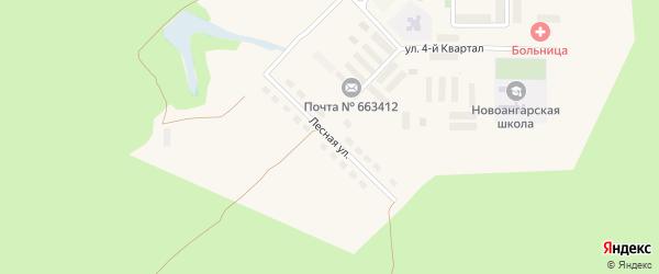 Лесная улица на карте поселка Новоангарска Красноярского края с номерами домов