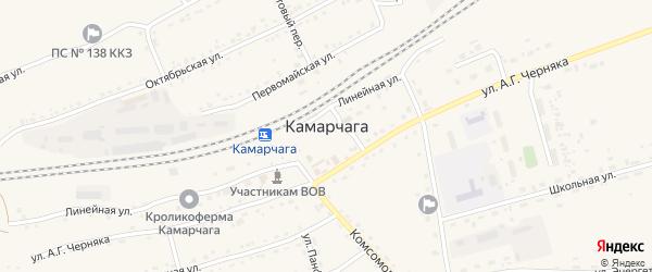Улица 70 лет Победы на карте поселка Камарчаги Красноярского края с номерами домов