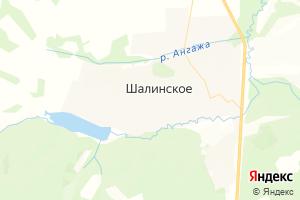Карта с. Шалинское Красноярский край