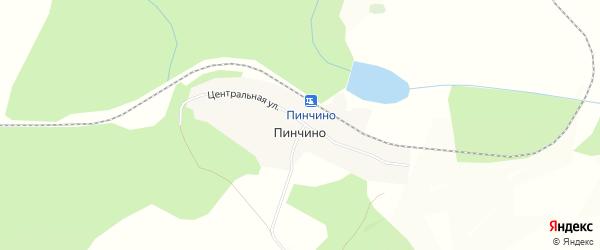 Карта поселка Пинчино в Красноярском крае с улицами и номерами домов
