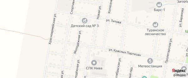 Новая улица на карте Турана с номерами домов
