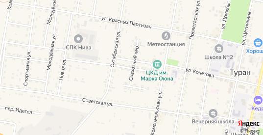 Зеленый переулок в Туране с номерами домов на карте. Спутник и схема онлайн
