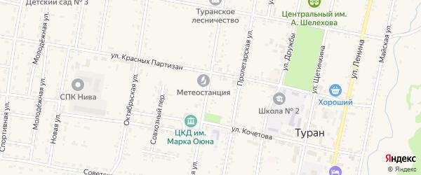 Улица Дениса Оюна на карте Турана с номерами домов