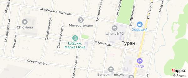 Пролетарская улица на карте Турана с номерами домов