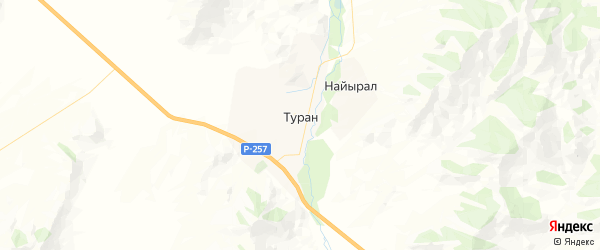 Карта Турана с районами, улицами и номерами домов