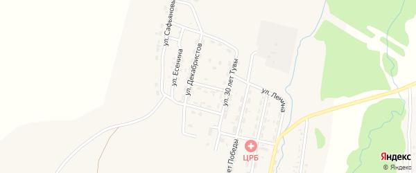 Березовый переулок на карте Турана с номерами домов