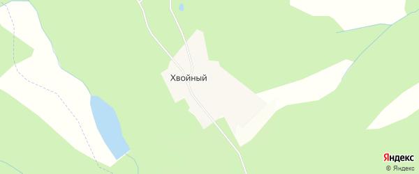 Карта Хвойного поселка в Красноярском крае с улицами и номерами домов