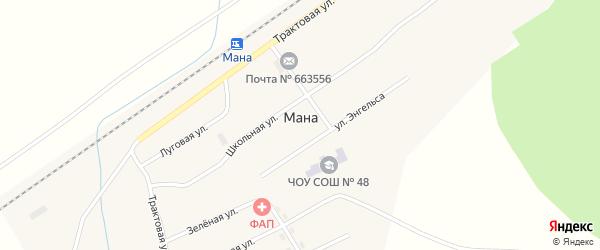 Интернациональная улица на карте поселка Мана Красноярского края с номерами домов