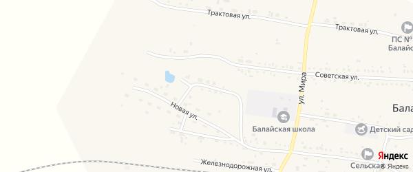 Заводская улица на карте поселка Балая Красноярского края с номерами домов