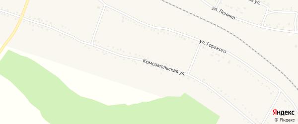 Комсомольская улица на карте поселка Балая Красноярского края с номерами домов