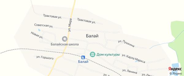 Карта поселка Балая в Красноярском крае с улицами и номерами домов