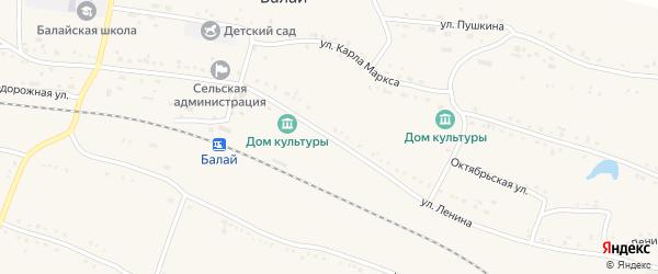 Улица Ленина на карте поселка Балая Красноярского края с номерами домов