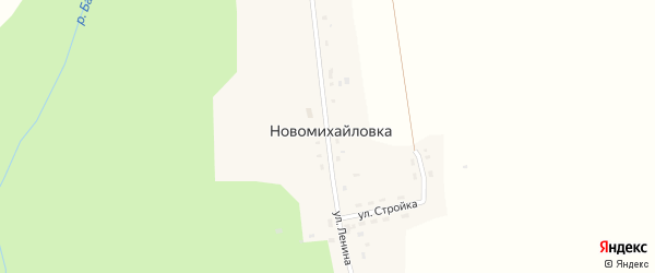 Улица Ленина на карте деревни Новомихайловки Красноярского края с номерами домов