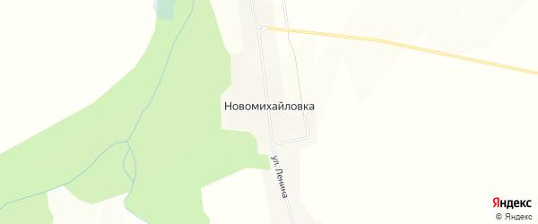 Карта деревни Новомихайловки в Красноярском крае с улицами и номерами домов
