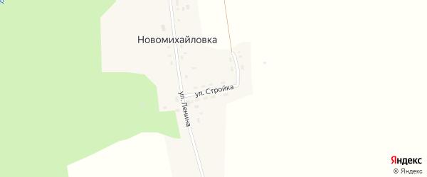 Улица Стройка на карте деревни Новомихайловки Красноярского края с номерами домов