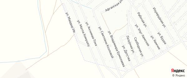 Улица Анчимаа-Тока на карте Кызыла с номерами домов