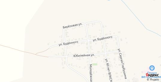 Улица Буденного в Уяре с номерами домов на карте. Спутник и схема онлайн