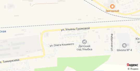 Улица Сергея Тюленина в Уяре с номерами домов на карте. Спутник и схема онлайн